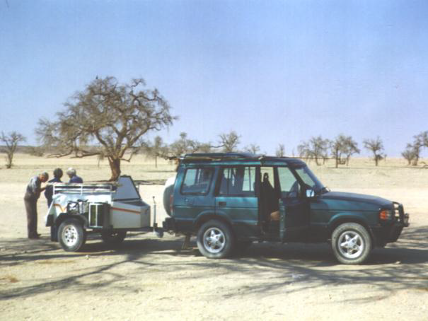 Preparig for trip through the Namib Desert
