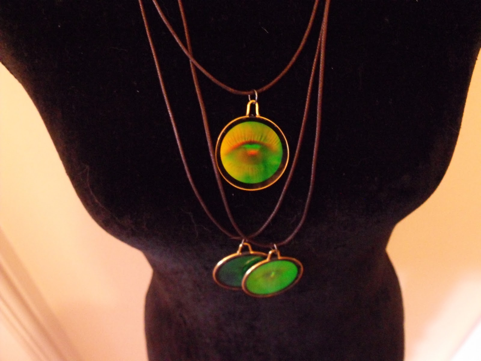 original seed hippy feather hologram necklaces