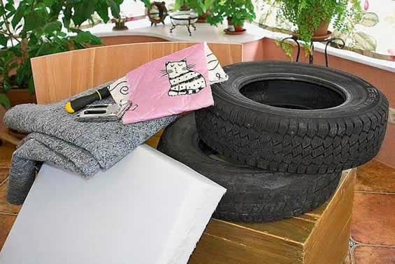 Materiais para fazer cadeira de pneus