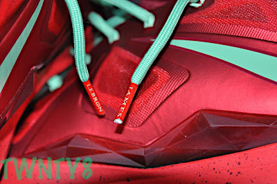 nike lebron 10 gr christmas ruby 3 07 Detailed Look at the Nike LeBron X Christmas / Ruby Edition