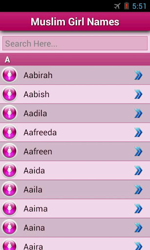 Muslim Girls Name