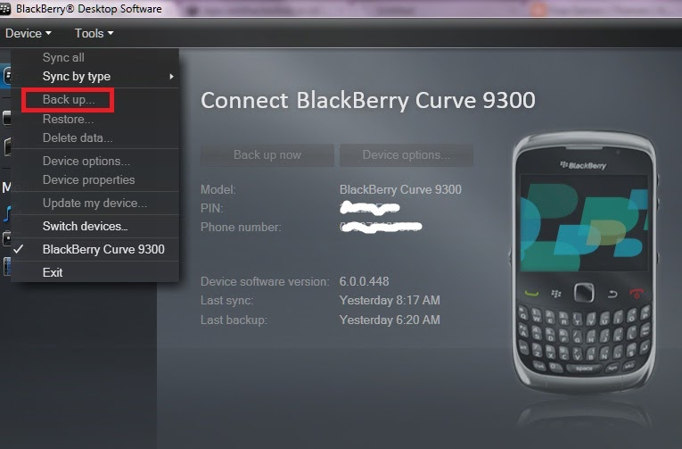 updating blackberry connecting to device