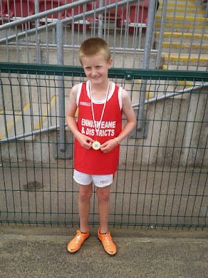 Gavin Kelleher  won gold recently at the Cork County Finals of the Community Games in the Under 12 600m race.  Gavin now goes on to represent Cork in the All Ireland Community Finals in Athlone in August.  Gavin plays under 12 hurling and football for Newcestown, we wish him all the best in Atlhone.