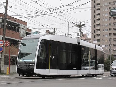 札幌市電 A1201号電車事業所出庫 その3