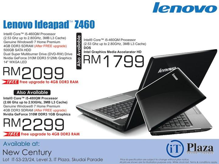 Century Lenovo Ideapad Z460