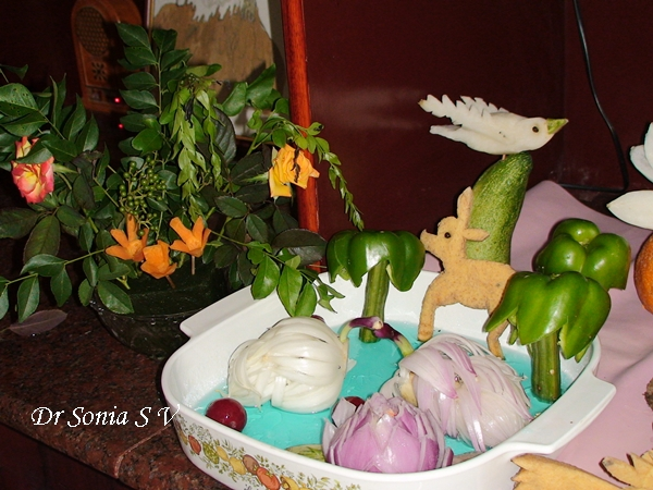 Cards crafts kids projects vegetable carving swans in a pond
