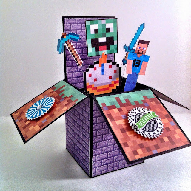 InkyPinkies Minecraft Birthday Card In A Box 13th Birthday – Box of Birthday Cards