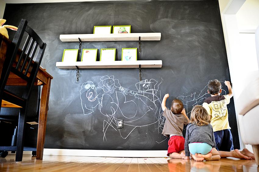 C2design chalkboard paint - Tableau craie mural ...