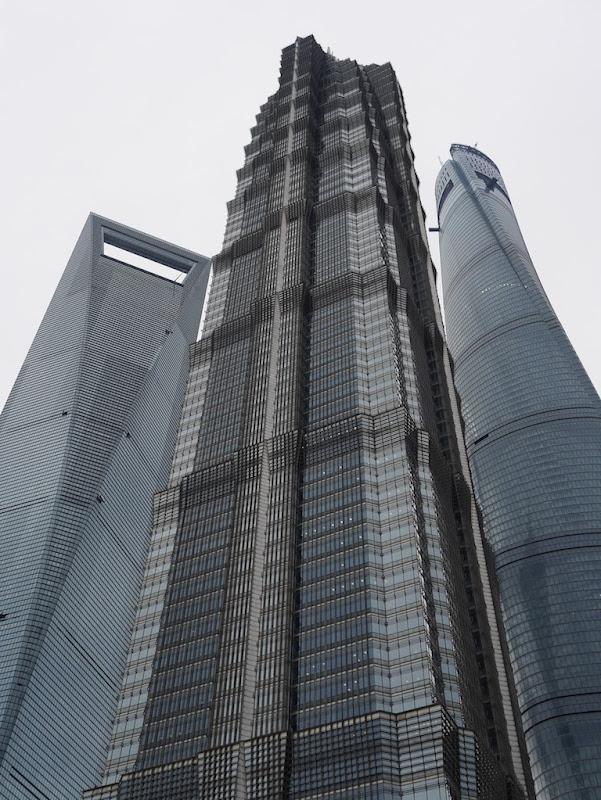 Shanghai World Financial Center, Jin Mao Tower, and Shanghai Tower in Shanghai, China