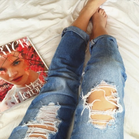 In bed with my boyfriend…jeans