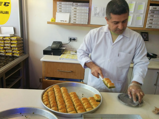 At a baklava store in Gaziantep