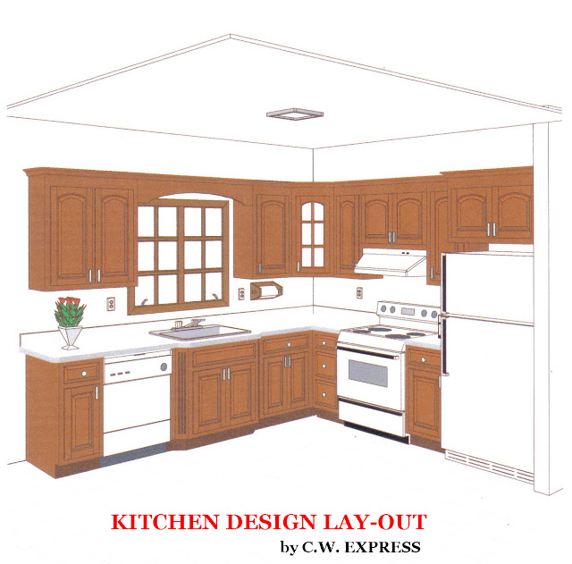Diy kitchen up grades for Laying out a kitchen plan