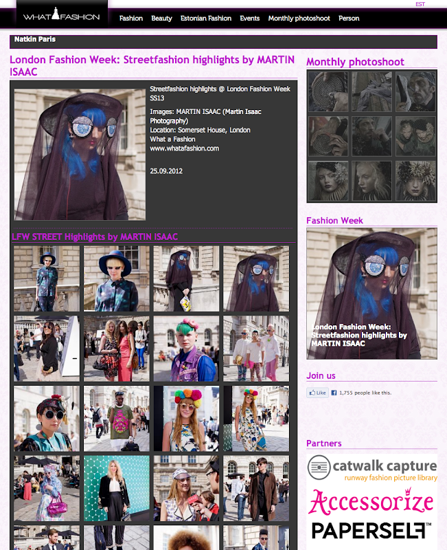 What a Fashion!: WAF: London Fashion Week: Streetfashion highlights by MARTIN ISAAC