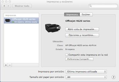 Impresora instalada