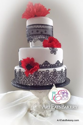 Red And White Wedding Cakes Pictures