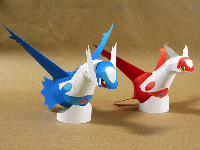 Pokemon Latias and Latios Paper Model