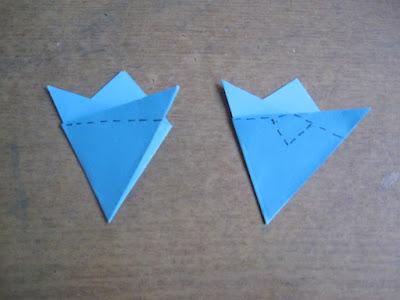 отрезаем по пунктиру,  чтоб сделать шестиугольник