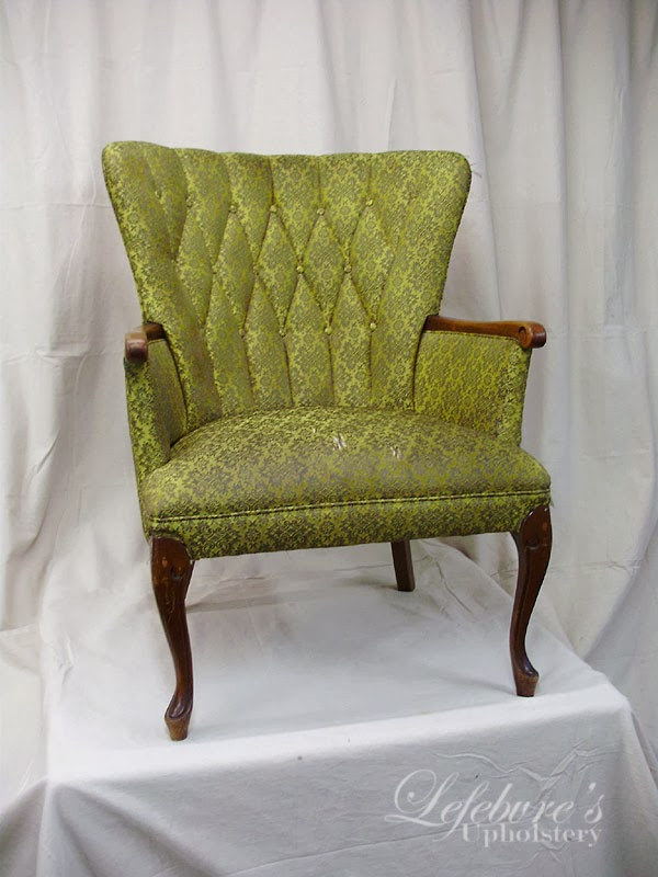 An Interesting Note Is That The Fabric Was Installed Sideways On This Chair.  Usually A Pattern Like This Would Be Installed In The Other Direction (with  The ...