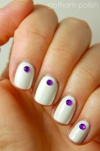 graduation manicure rhinestone manicure