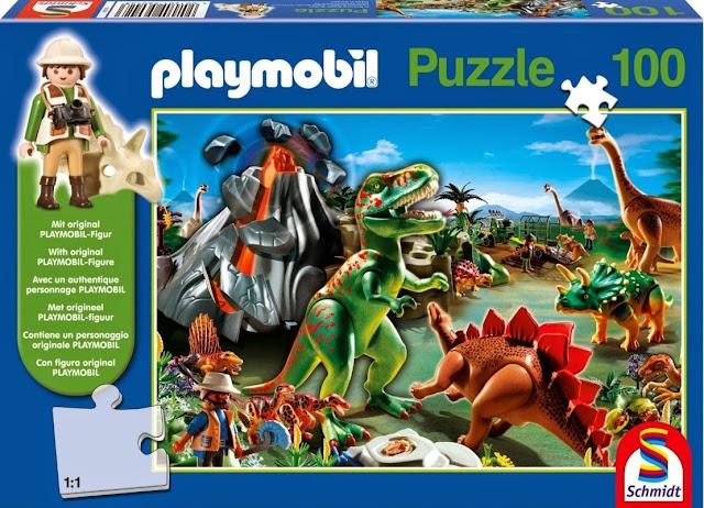 Bộ đồ chơi Xếp hình Khủng long 100pcs mã 56042 (Playmobil in Dinosaur Country Jigsaw Puzzle)