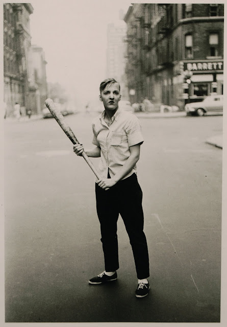 Diane Arbus, Teenager with a Baseball Bat, NYC, 1962