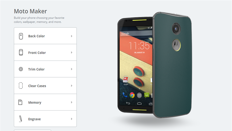 Fully customized to your specifications! The Motorola Moto X Smartphone