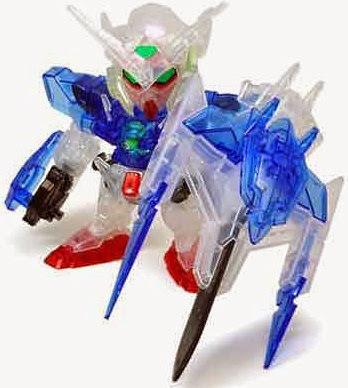 Gundam Exia Repair II và O Gundam (clear color version) nhỏ xinh, đầy biểu cảm