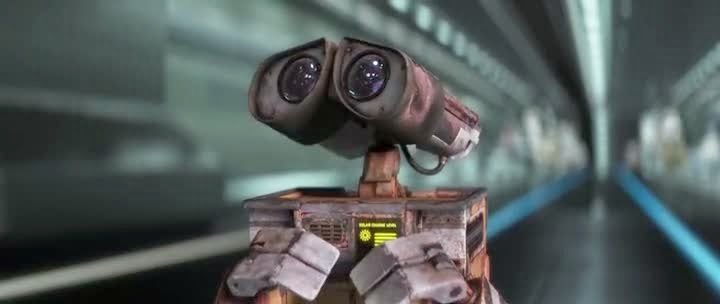 Screen Shot Of Hollywood Movie WALL·E (2008) In Hindi English Full Movie Free Download And Watch Online at alldownloads4u.com