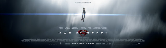 Man of Steel flying banner