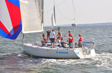 J/120 offshore cruising racing sailboat