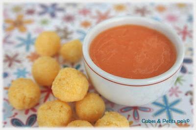 recette bébé 12 mois polenta sauce poivron rouge