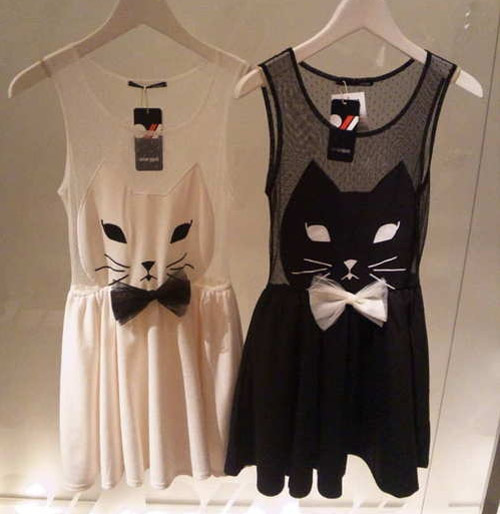 Inspiração: gatinho - vestido