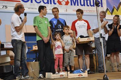 Courir pour des pommes 2011 - podium 33km