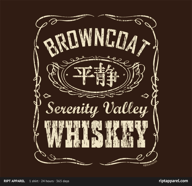 Firefly tee shirt with Jack Daniel's theme.
