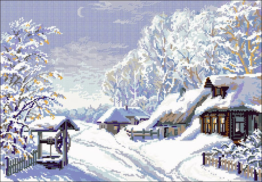 Wintercross stitch pattern