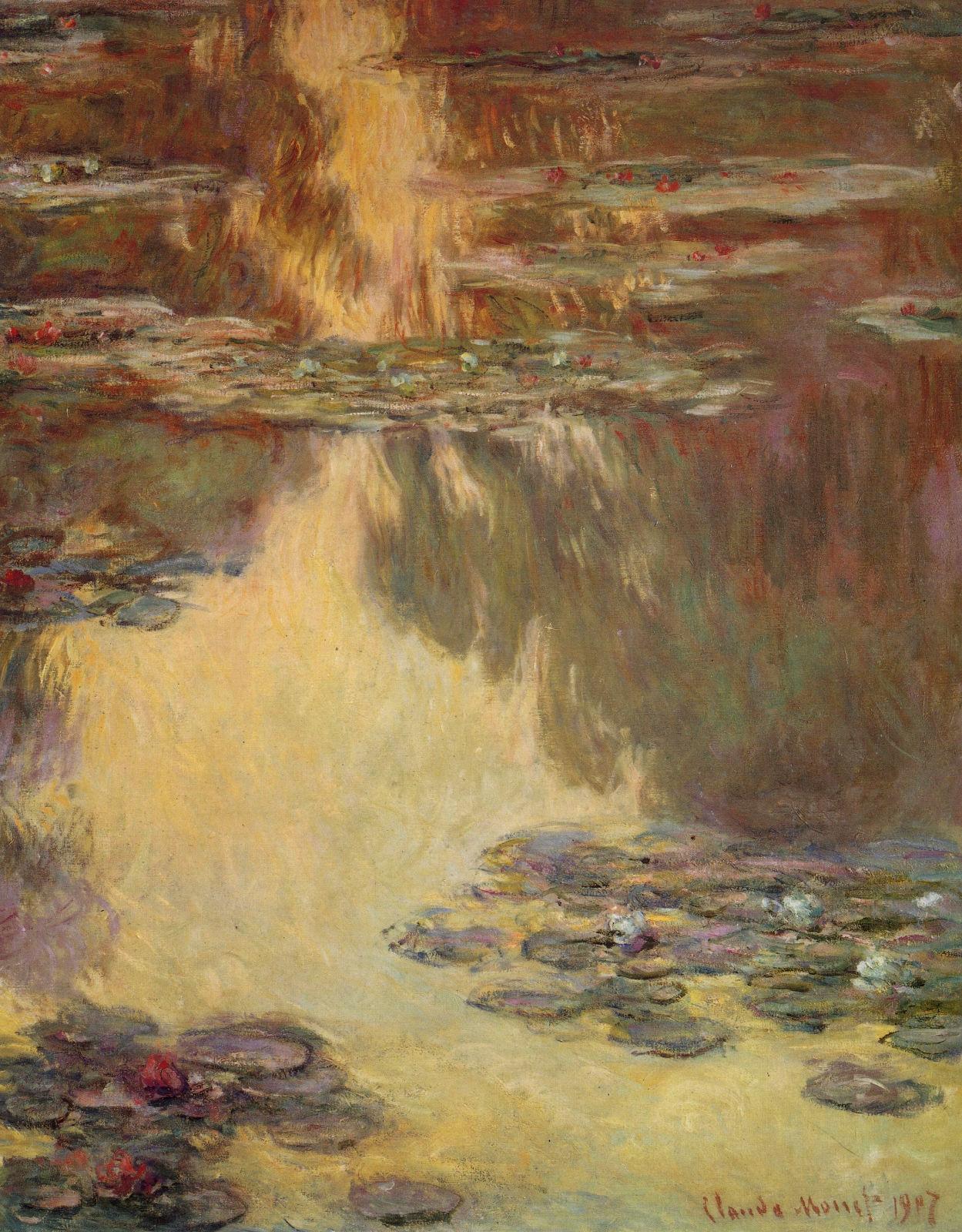 モネlog: 「睡蓮の連作」水の風景 Ⅳ