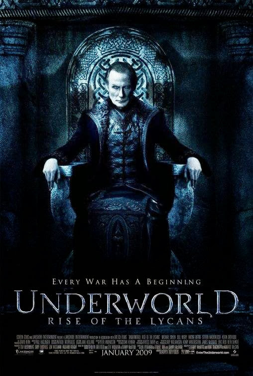 Poster Of Underworld: Rise of the Lycans (2009) Full Movie Hindi Dubbed Free Download Watch Online At Alldownloads4u.Com