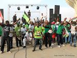 L'ambiance après l'exposition des dépouilles de trois joueurs du Daring Club Motema Pembe(DCMP)  le 03/04/2013 au stade de martyrs à Kinshasa. Radio Okapi/Ph. John Bompengo