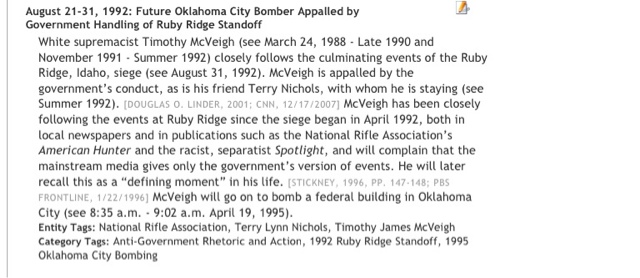 a sociological study of timothy mcveigh Identification in the trials of timothy mcveigh and terry nichols in the 1995  oklahoma city bombing  research on the confidence and accuracy of  eyewitnesses, cross-contamination of  social fa c t o rs may also distort  memory rep o rts.