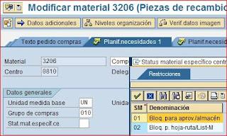 Status material