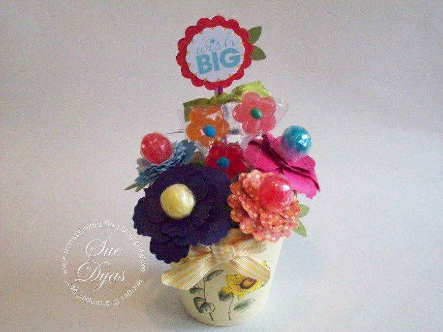 Stampin\' With Suzie Q: Lollipop Flower Bouquet