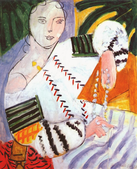 Henri Matisse - Romanian Blouse with Green Sleeves 1927