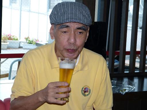 ビールでお祝いしました