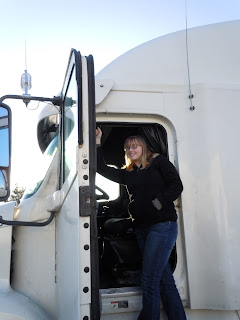 Seen inside a Tractor Trailer Truck