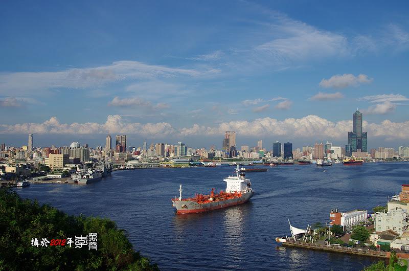 看的見大武山的高雄港