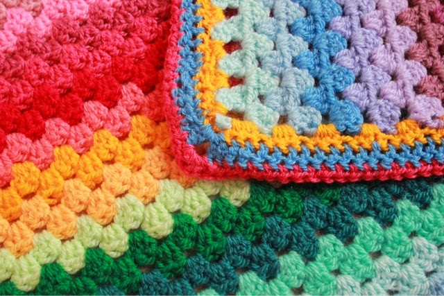 Mrs Cuddles Granny Stripe Blanket