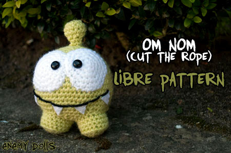 Om Nom cut the rope amigurumi free pattern