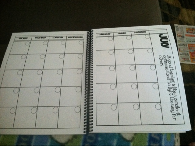 Teaching in paradise monday made it 2 lesson plan book for Pacing calendar template for teachers