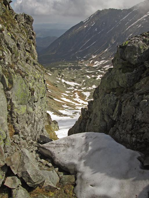 Żółta Przełęcz - widok w stronę Doliny Pańszczycy