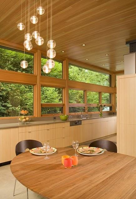 9 Дизайн интерьера деревянного дома в Вашингтоне, США ФОТО